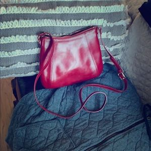 Monsac Red Leather cross body
